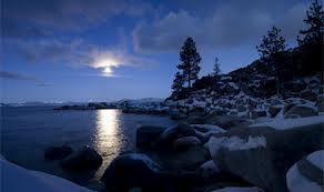 moon lit snow