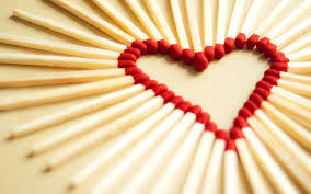 matches in heart shape